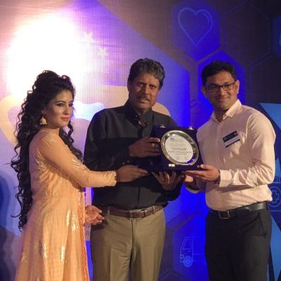 Award received from Kapil Dev